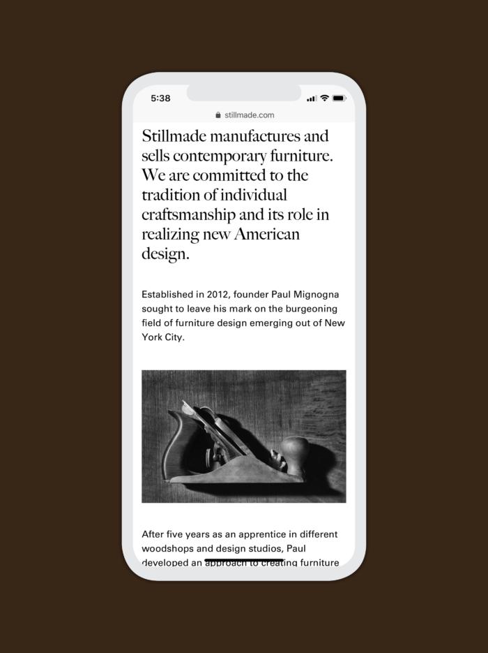Llwebsite Stillmade3